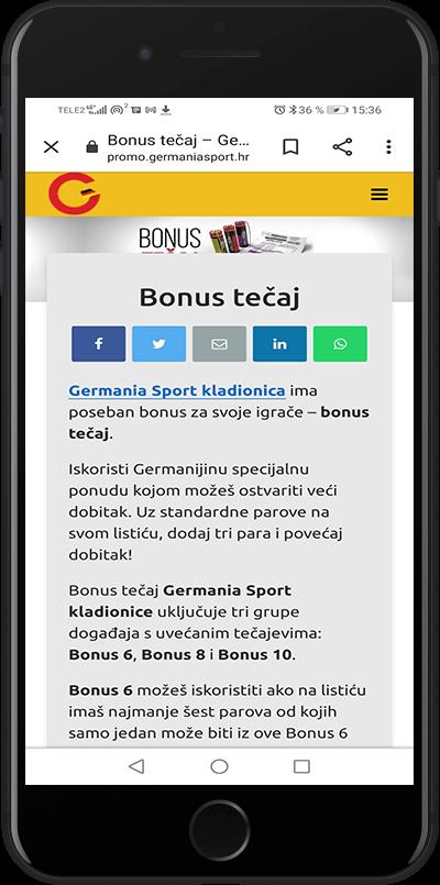 bonus tecaj germania