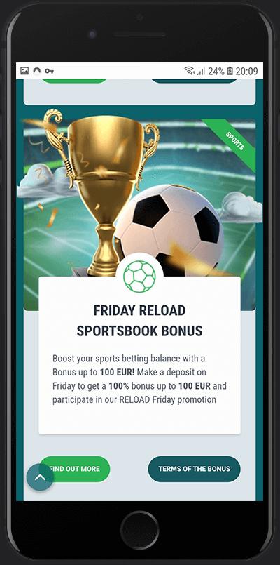 22bet friday reload bonus