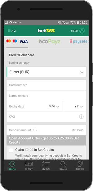 bet365 metode plaćanja info