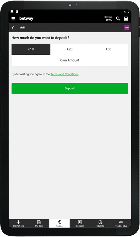 Uplate betway