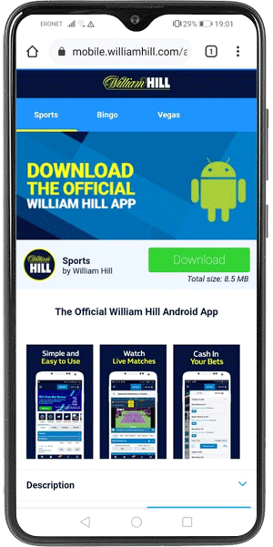 William Hill preuzimanje Android